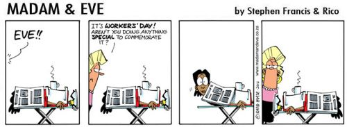 'Eve Honours Worker&#039;s Day': Africartoons.com