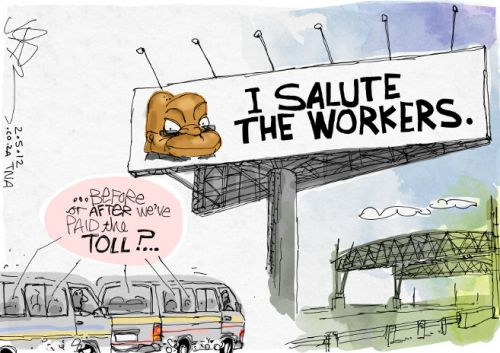 'Workers: Zuma Salutes You': Africartoons.com