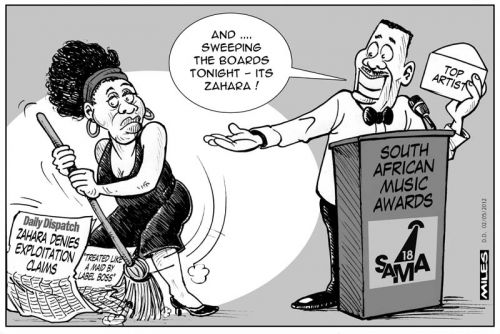 'Zahara Sweeps Up at SA Music Awards': Africartoons.com