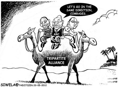 'The Push-Me-Pull-You Alliance': Africartoons.com