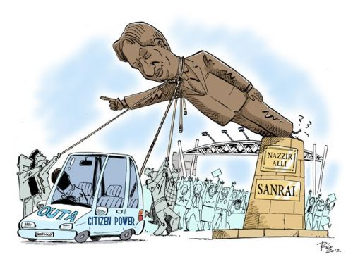 'Nazir Alli is OUTA here': Africartoons.com