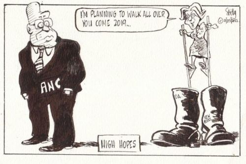 'These Boots Are Made for Walking...': Africartoons.com