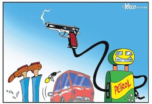 'Petrol Price Shoots Up': Africartoons.com