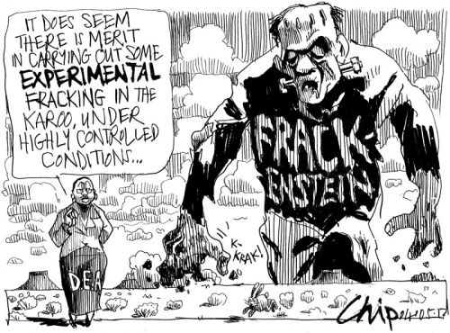 'Frackenstine': Africartoons.com