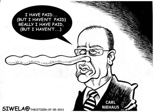 'The Naked Truth or More Carl Lies?': Africartoons.com
