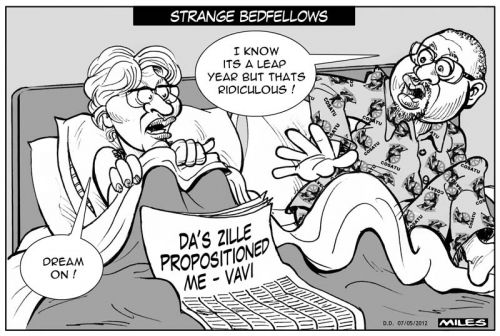 'Strange Bedfellows': Africartoons.com