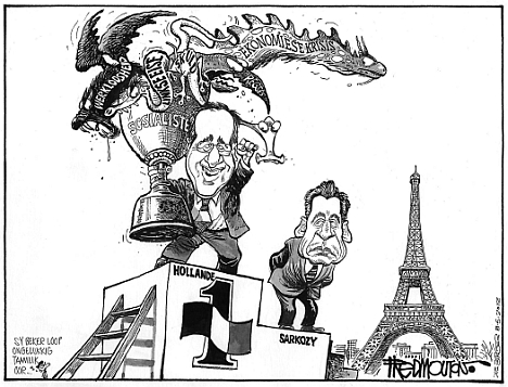 'Hollande Wins': Africartoons.com