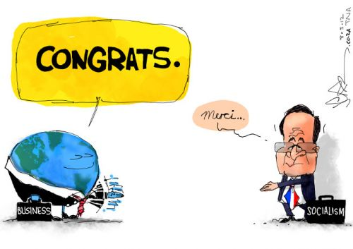 'Meet the New French President': Africartoons.com