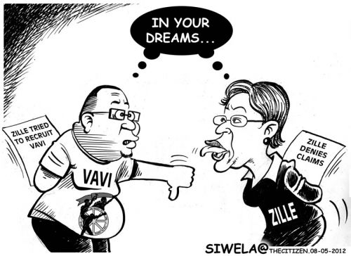'A Lovers' Squabble?': Africartoons.com