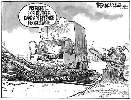 'Toll Road Blocked': Africartoons.com