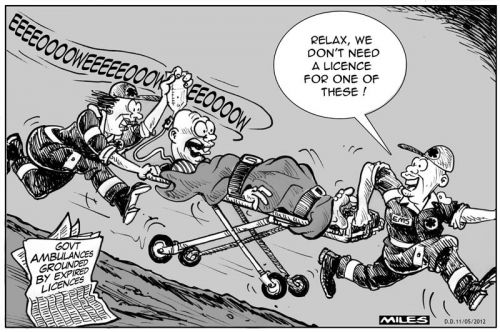 'Ambulance by Foot': Africartoons.com