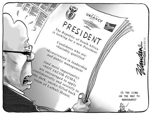 'Vacancy in the Presidency': Africartoons.com