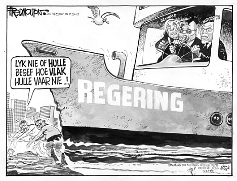 'Lurking in Shallow Waters': Africartoons.com