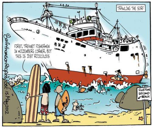 'Ship Beached in Clifton': Africartoons.com
