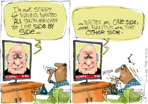 'FW Said What?': Africartoons.com