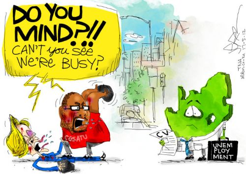 'The Battle of Braamfontein': Africartoons.com