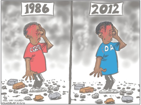 'Protests, Then and Now': Africartoons.com
