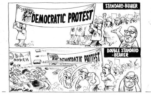 'Cosatu's Standards': Africartoons.com
