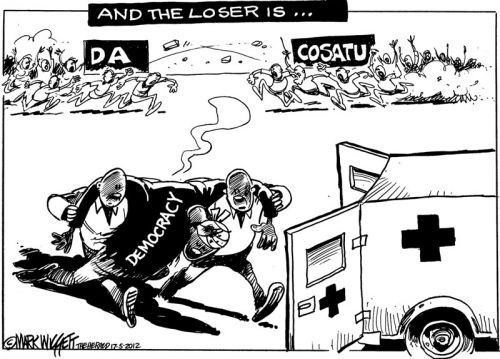 'Cosatu vs DA: And the Loser is...': Africartoons.com