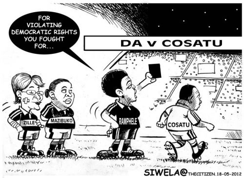 'Vavi Gets Marching Orders': Africartoons.com