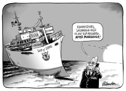 'A Stranded Presidency': Africartoons.com