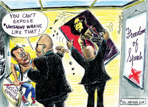 'Zuma Spear Censored': Africartoons.com