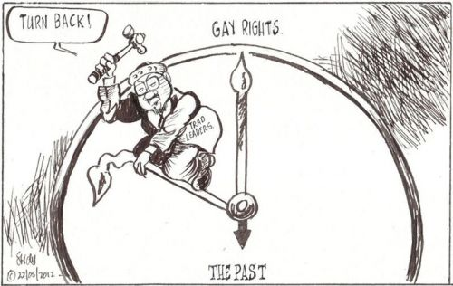 'No Time for Gays': Africartoons.com
