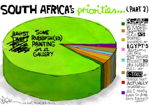 'South African Priorities (Revised)': Africartoons.com