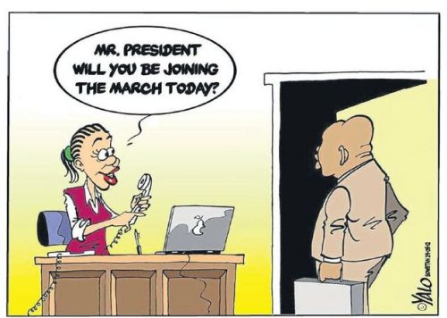 'Will JZ Spearhead the March?': Africartoons.com