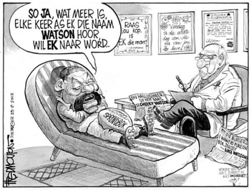'Watson His Mind': Africartoons.com