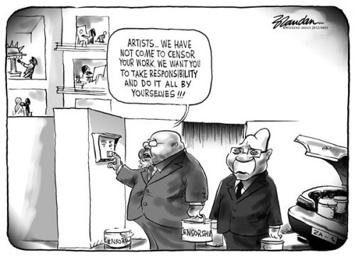 'The Art of Self Censorship': Africartoons.com