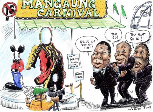 'Who Measures Up to the President?': Africartoons.com