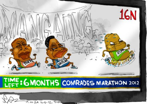 'Comrades in Competition': Africartoons.com