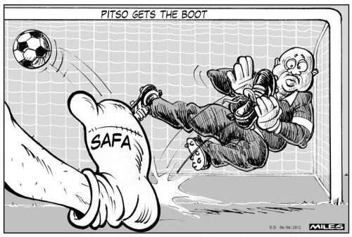 'Pitso Gets the Boot': Africartoons.com