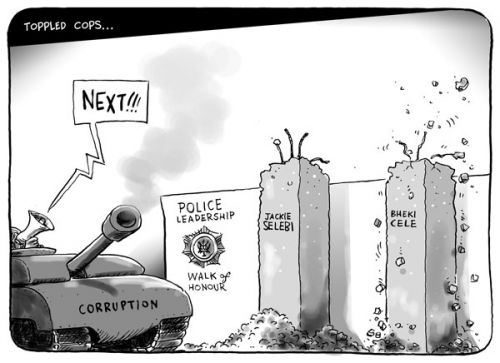 'Toppled Cops': Africartoons.com