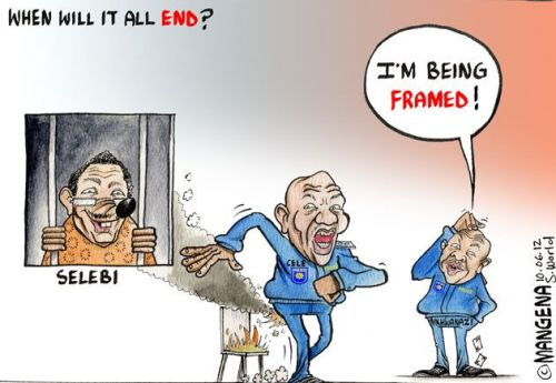 'Selebi on Fire': Africartoons.com