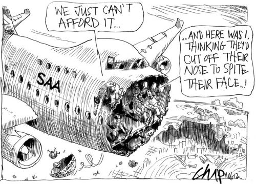 'Cutting Off Their Noses...': Africartoons.com