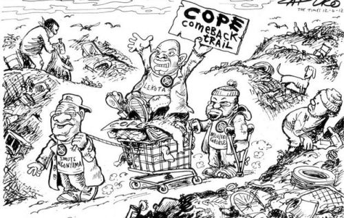 'Cope on the Comeback Trail': Africartoons.com