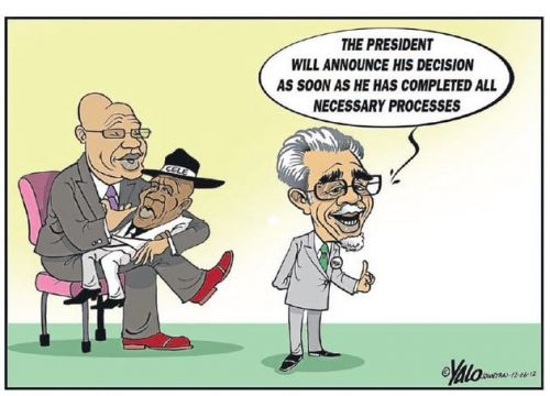 'Preparing to Let Cele Go': Africartoons.com