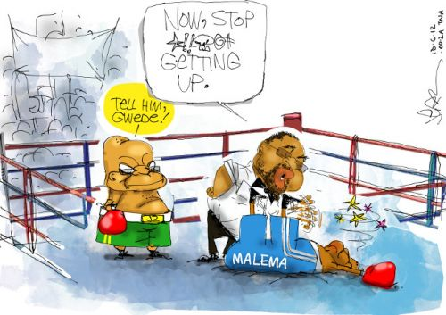 'Malema is Out': Africartoons.com