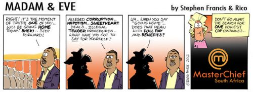 'Master Chief': Africartoons.com
