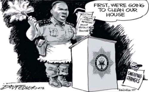 'The Cleaning Lady': Africartoons.com