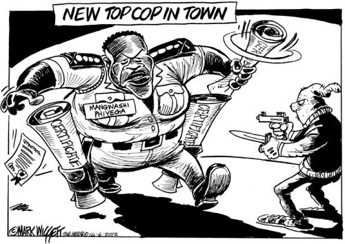 'Certified Crime Fighter': Africartoons.com
