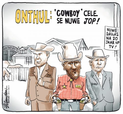 'Bheki Goes to Dallas': Africartoons.com