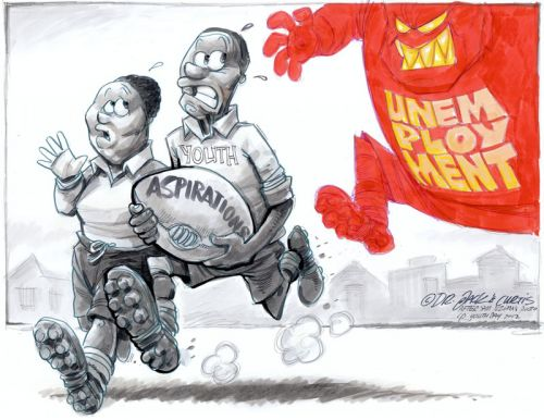 'Chasing the Future': Africartoons.com