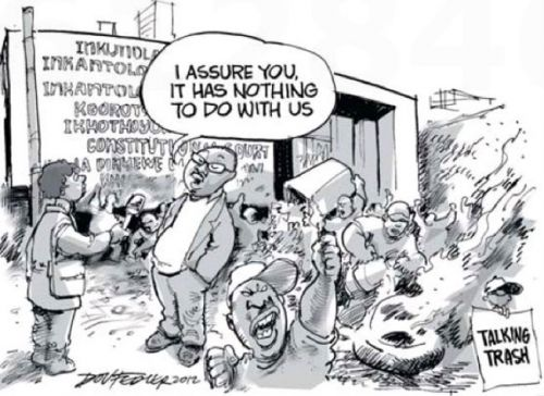 'Paying for their Vandalism': Africartoons.com
