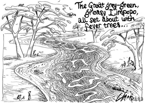 'Money Down the River': Africartoons.com