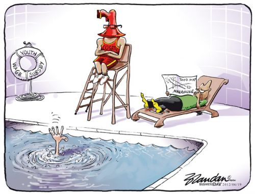 'Carefree': Africartoons.com