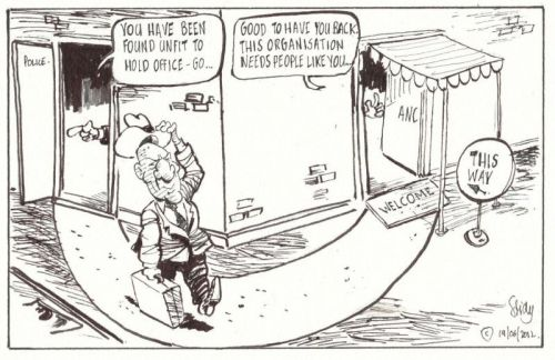 'Cele Fired and Hired': Africartoons.com