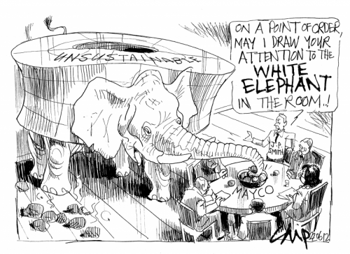 'White Elephant in the Room': Africartoons.com